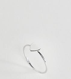 Серебряное кольцо с сердечком Monki - Серебряный