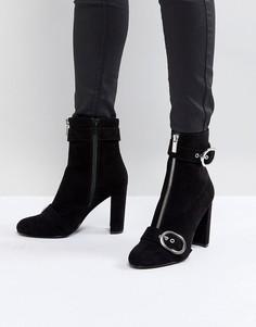 Ботинки с молнией и пряжкой Faith - Черный