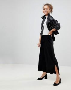 ASOS Cropped Drawstring Trousers - Черный