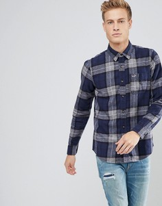 Фланелевая рубашка в клетку Hollister - Темно-синий