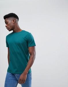 Зеленая футболка Weekday Alan - Зеленый