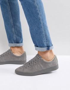 Серые хлопковые кроссовки с начесом Fred Perry Spencer - Серый