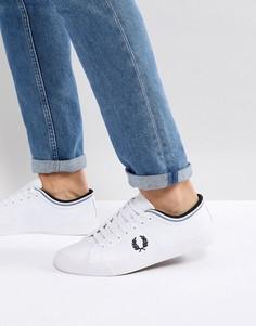 Белые кожаные кроссовки с контрастной отделкой Fred Perry Kendrick - Белый