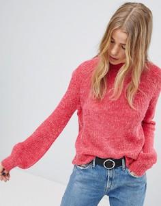 Джемпер в рубчик с рукавами клеш Only - Розовый