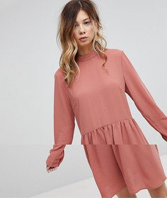 Свободное платье с бантом Pieces - Розовый