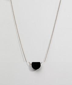 Длинное ожерелье с бархатными помпонами Pieces - Золотой