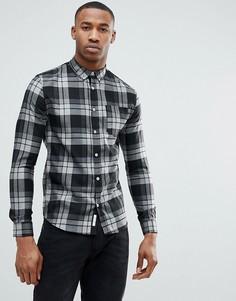 Серая обтягивающая рубашка в клетку River Island - Серый
