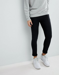 Черные супероблегающие джинсы River Island - Черный