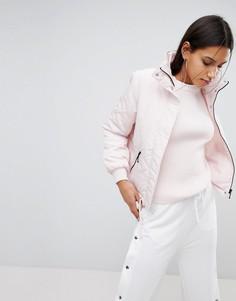 Дутая куртка с высоким воротом Noisy May - Розовый