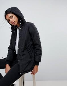 Дутая куртка с капюшоном Noisy May - Черный