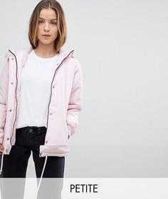 Дутая куртка с капюшоном Noisy May Petite - Розовый