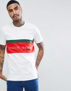 Белая обтягивающая футболка с логотипом Criminal Damage - Белый