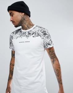 Обтягивающая футболка Criminal Damage - Белый