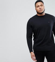 Черный джемпер из хлопка и шелка с логотипом Tommy Hilfiger PLUS - Черный