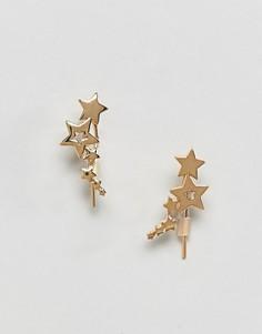 Кафф со звездами Orelia - Золотой