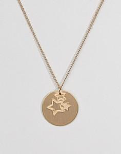 Золотистое ожерелье с подвесками Pieces - Золотой