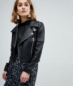 Байкерская куртка из искусственной кожи с молниями Vero Moda - Черный