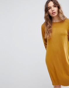 Трикотажное платье JDY - Коричневый