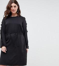 Платье с оборками Junarose - Черный