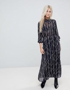 Платье-рубашка макси с мелким принтом Only - Мульти