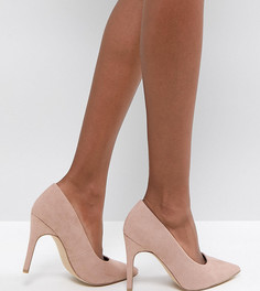 Туфли-лодочки для широкой стопы с острым носком New Look - Бежевый