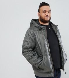 Стеганая куртка с капюшоном Ringspun PLUS - Серый