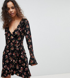 Чайное платье с цветочным принтом Boohoo Petite - Мульти