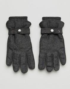 Серые перчатки с шевронным узором на подкладке New Look - Серый