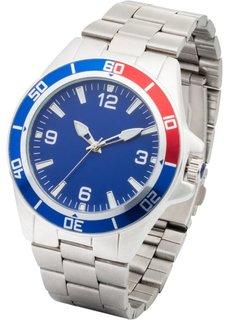 Часы мужские из высокосортной стали (серебристый) Bonprix