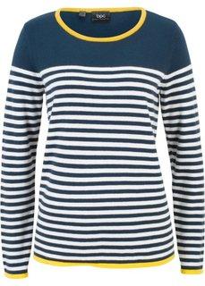Пуловер в полоску (темно-синий/белый в полоску) Bonprix