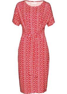 Платье (красный/белый в цветочек) Bonprix