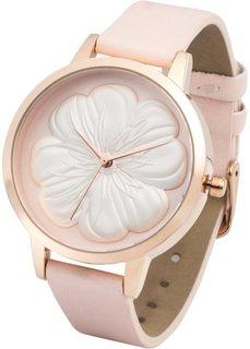 Часы дизайна Maite Kelly (нежно-розовый/розово-золотистый) Bonprix