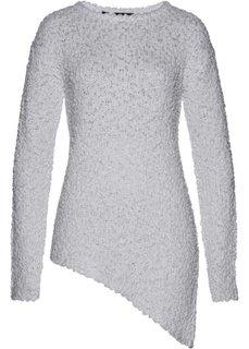 Пуловер с асимметричным нижним краем (светло-серый) Bonprix