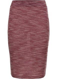 Трикотажная юбка (бордовый меланж) Bonprix