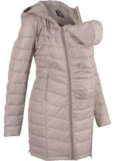 Пальто стеганое с карманом-вставкой для малыша (натуральный камень) Bonprix