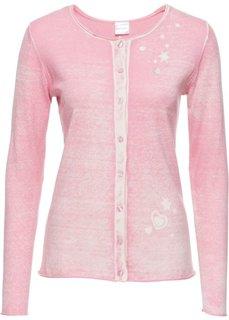 Вязаный кардиган (розовый с рисунком) Bonprix
