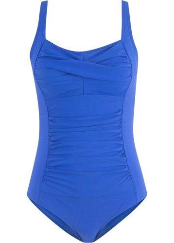 Утягивающий купальный костюм (синий)