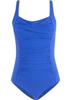 Утягивающий купальный костюм (синий) Bonprix