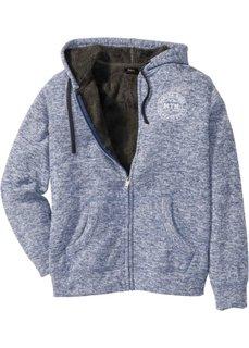 Куртка Regular Fit на плюшевой подкладке (синий меланж) Bonprix