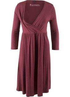 Платье для будущих и кормящих матерей (кленово-красный) Bonprix