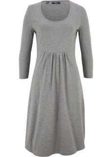 Платье из трикотажа с рукавом 3/4 (серый меланж) Bonprix