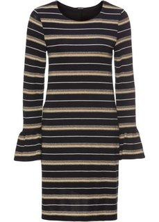 Платье с воланами, дизайн в полоску (черный в полоску) Bonprix