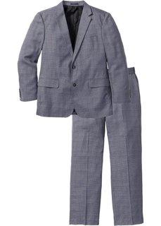 Мужской костюм Regular Fit (2 изд.), cредний рост (N) (серый/черный с узором) Bonprix