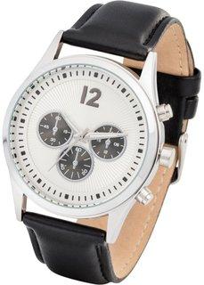 Часы мужские функциональные (черный) Bonprix