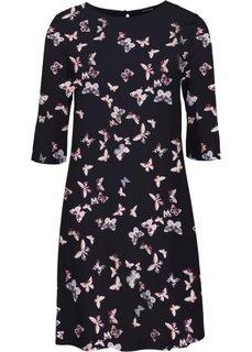 Платье с рисунком (розовый с принтом бабочек) Bonprix