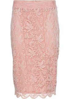 Кружевная юбка-карандаш (розовый) Bonprix