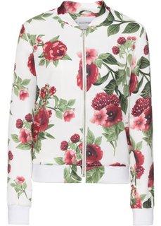 Куртка-бомбер (кремовый с узором) Bonprix
