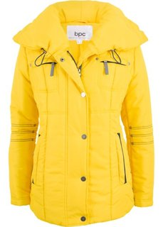 Стеганая куртка с большим воротником (желтый) Bonprix