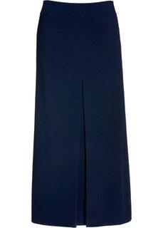 Юбка со встречной складкой спереди (темно-синий) Bonprix