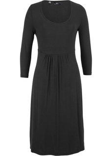 Платье из трикотажа с рукавом 3/4 (черный) Bonprix